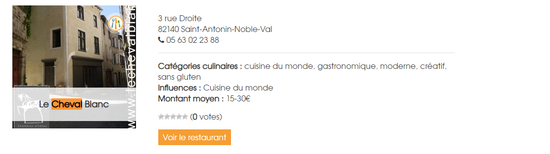 Our listing as one of the top 10 meat-free places in the South of France on the VegoResto website